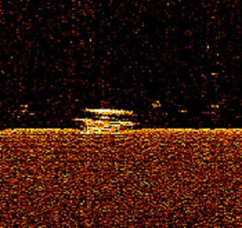 Side Scan Sonar image of the RESCUE